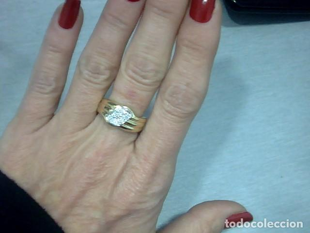 Joyeria: anillo oro 18 kl y diamantes - Foto 3 - 146868210