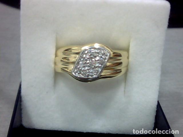Joyeria: anillo oro 18 kl y diamantes - Foto 4 - 146868210