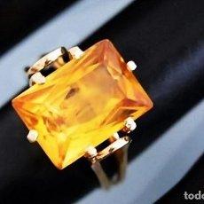 Jewelry - GRAN SORTIJA EN ORO DE 18 QUILATES Y UN MAGNIFICO CITRINO CON TALLA ESMERALDA DE 1,4CM - 95098343