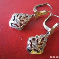 Joyeria - Pendientes antiguos de oro y diamantes - 147851750