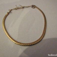 Joyeria: PULSERA DE ORO 14KLT GOLD FIELD TIPO ESCAMAS - 14CM CIERRE DE SEGURIDAD. Lote 148056026