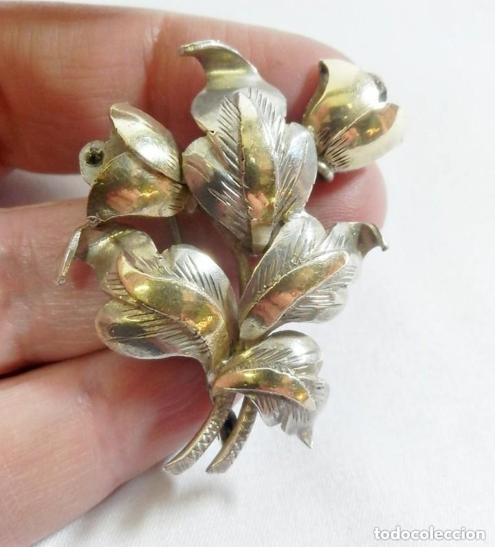 Joyeria: Broche aguja Art Decó en plata con vistas en oro de 18 años 20-30 - Foto 3 - 148423506