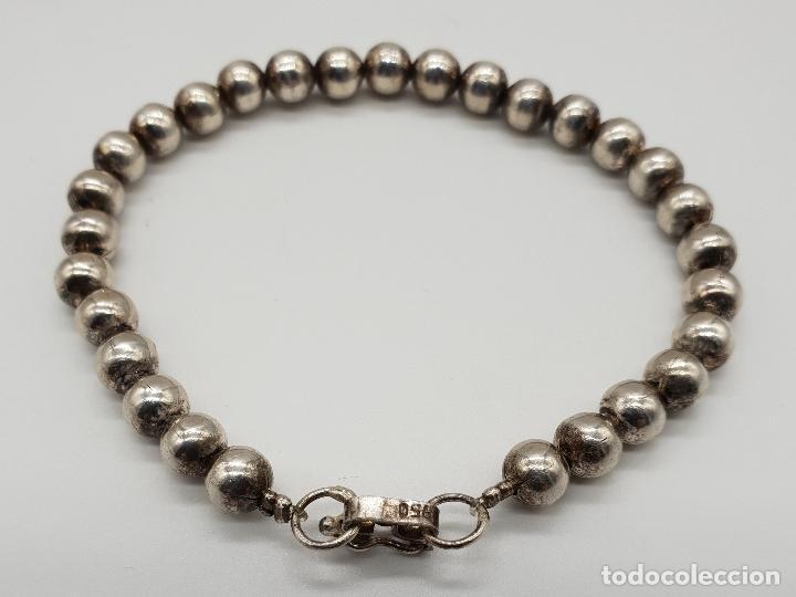 Joyeria: Pulsera antigua en perlas de plata de ley contrastada 950 . - Foto 2 - 148694182