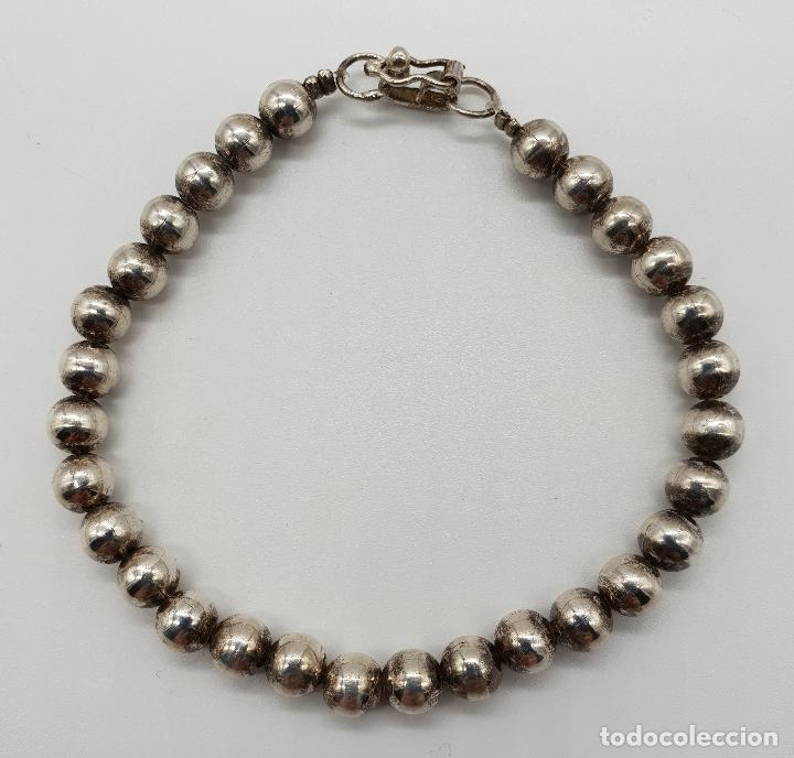 Joyeria: Pulsera antigua en perlas de plata de ley contrastada 950 . - Foto 3 - 148694182