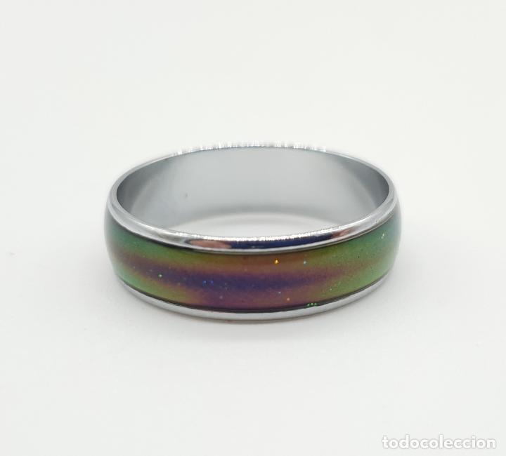 Joyeria: Original sortija vintage en plata con esmalte que cambia de color con el estado de animo . - Foto 7 - 157195564