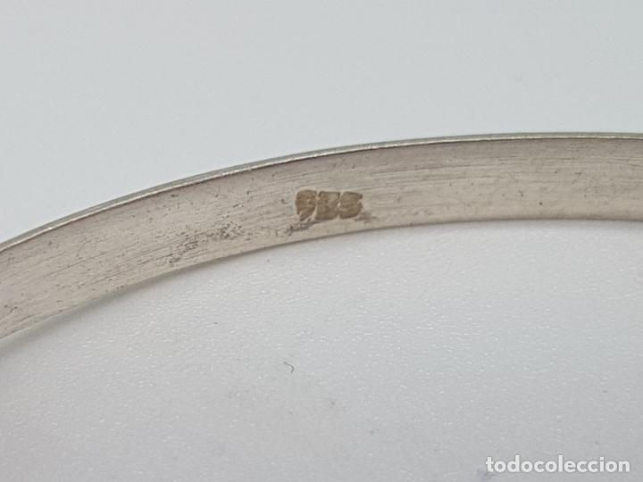 Joyeria: Bonita pulsera antigua en plata de ley contrastada con cabujón de azabache incrustado. - Foto 3 - 148838702