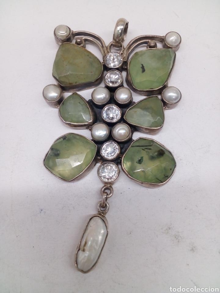 Joyeria: Colgante de plata 925 con piedra y perlas naturales - Foto 2 - 148908112