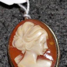 Schmuck - Antiguo colgante camafeo de plata y concha - 149314018