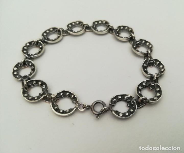Joyeria: pulsera de plata con inversiones en oro y marcasita - Foto 7 - 149968686