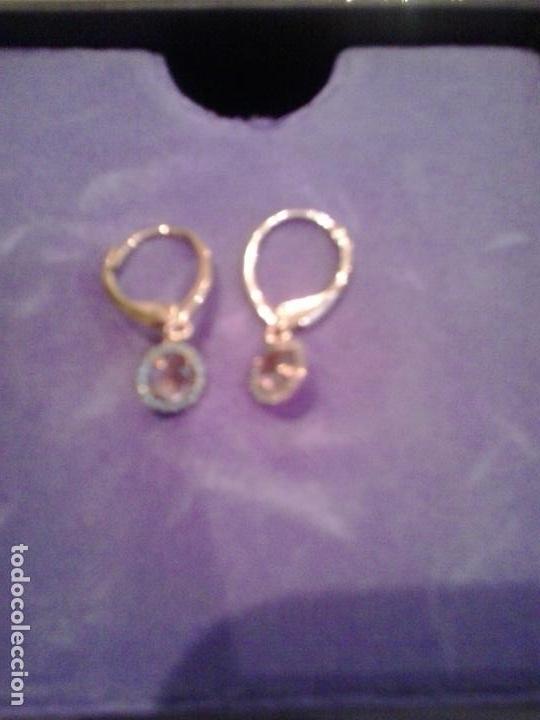 nueva estilos 08118 e866d Conjunto Pendientes y pulsera amatistas y orla diamantes Aristocrazy Plata  ,baño oro rosa