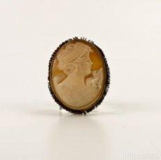 Jewelry - Camafeo tallado en concha o madreperla montura de metal - Principios S.XX - 150507930