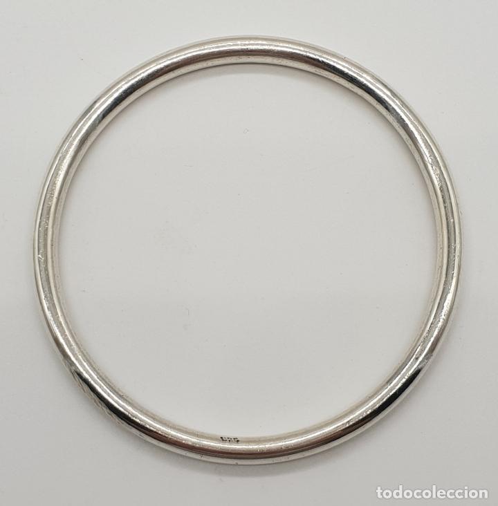 Joyeria: Brazalete vintage en plata de ley contrastada . - Foto 4 - 150574562