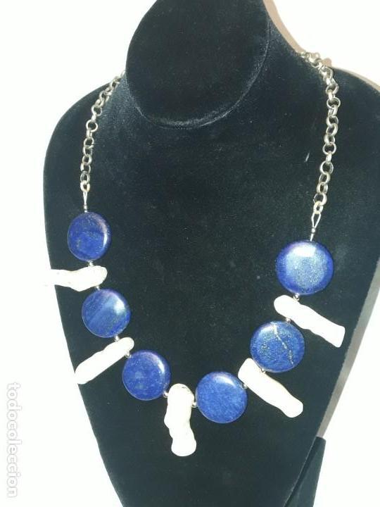 Joyeria: Precioso collar de lapislázuli y coral blanco - Foto 5 - 150940066