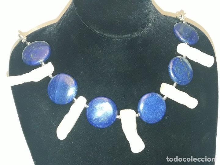 Joyeria: Precioso collar de lapislázuli y coral blanco - Foto 9 - 150940066