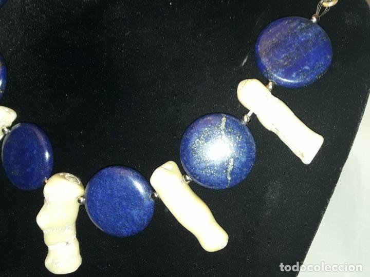 Joyeria: Precioso collar de lapislázuli y coral blanco - Foto 10 - 150940066