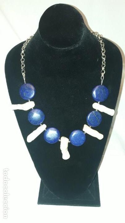 Joyeria: Precioso collar de lapislázuli y coral blanco - Foto 3 - 150940066