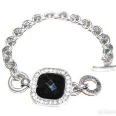 Jewelry - PULSERA MARCA VICEROY DE PLATA DE 1ª LEY, ONIX Y CIRCONITAS - 151041578