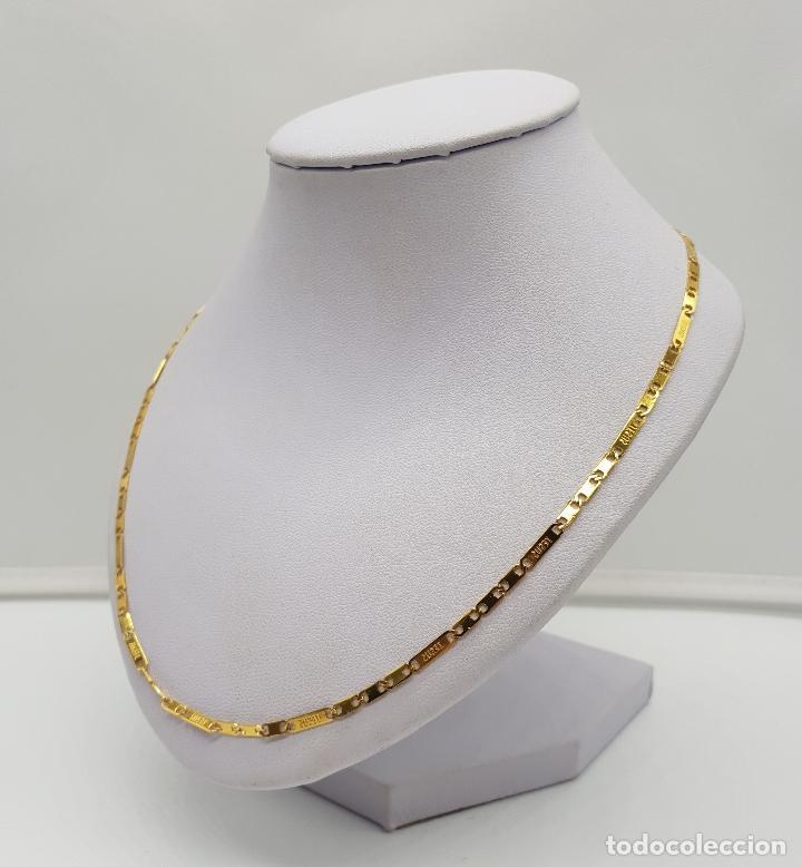 Joyeria: Original cadena en eslabones chapados en oro de 14k con el nombre de Jesus en cada eslabon . - Foto 2 - 151147194