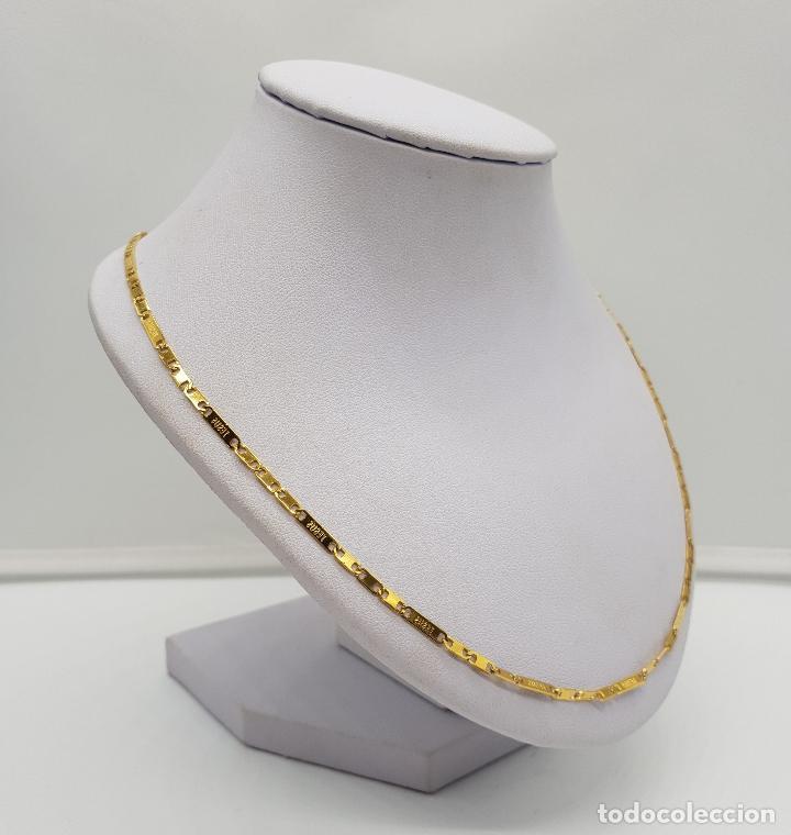 Joyeria: Original cadena en eslabones chapados en oro de 14k con el nombre de Jesus en cada eslabon . - Foto 4 - 151147194