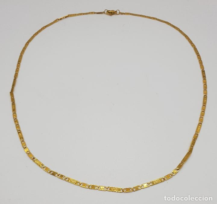 Joyeria: Original cadena en eslabones chapados en oro de 14k con el nombre de Jesus en cada eslabon . - Foto 5 - 151147194