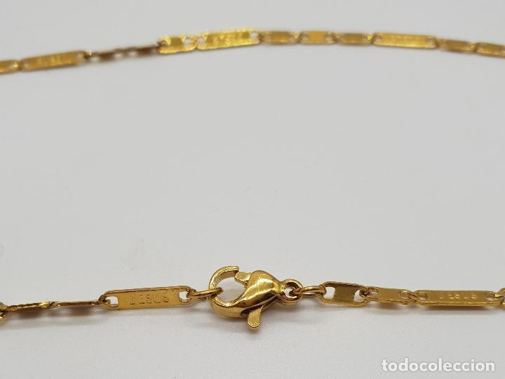 Joyeria: Original cadena en eslabones chapados en oro de 14k con el nombre de Jesus en cada eslabon . - Foto 7 - 151147194
