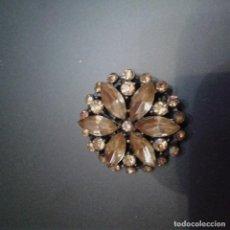 Joyeria: BROCHE CON CRISTALES COLOR AMBAR. Lote 151175510