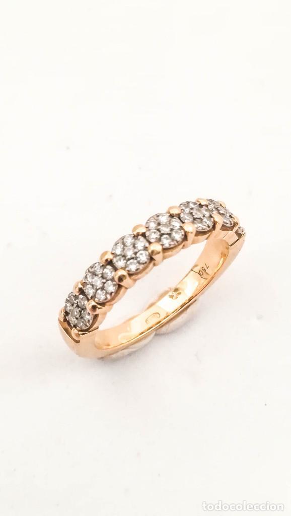Joyeria: Anillo Vintage Oro 18k y Diamantes - Foto 2 - 151287030