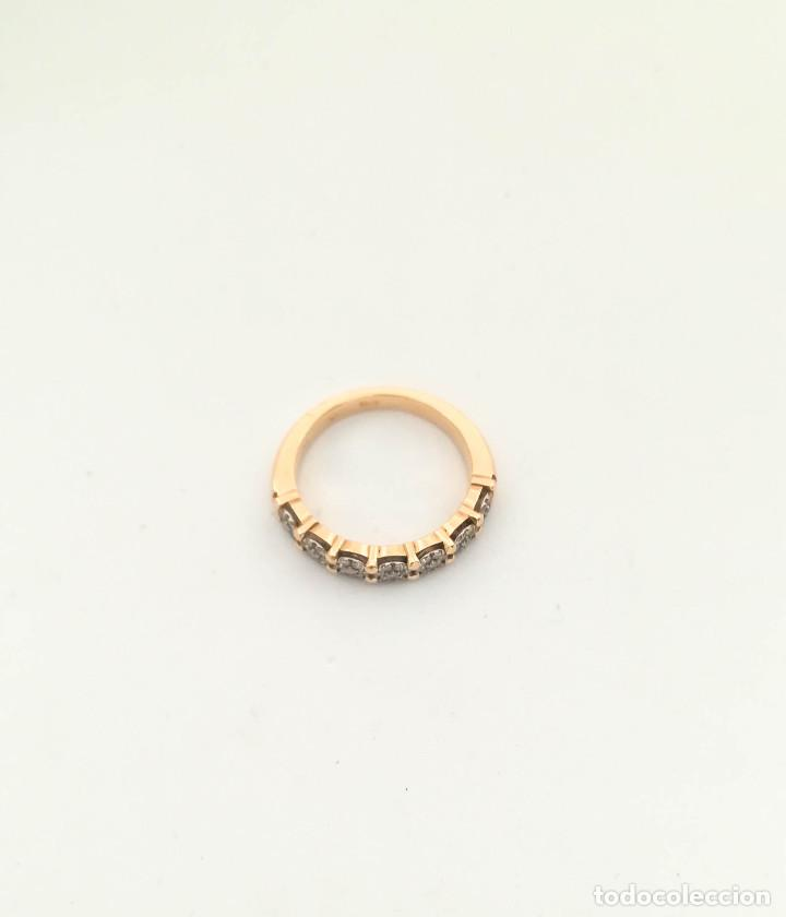 Joyeria: Anillo Vintage Oro 18k y Diamantes - Foto 3 - 151287030