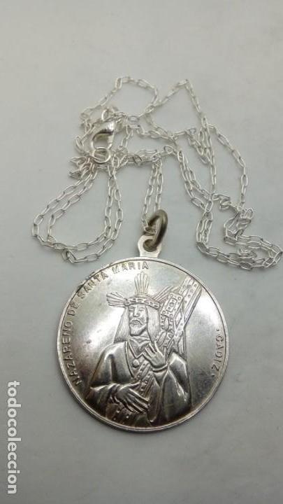 MEDALLA PLATA RELIGIOSA GRANDE 3 CM (Joyería - Varios)