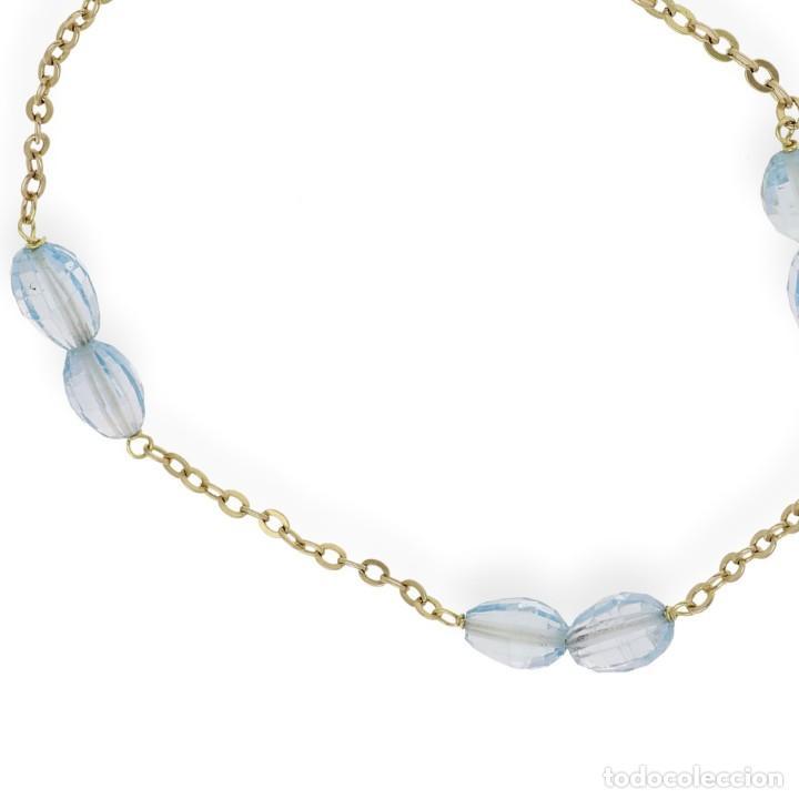 Joyeria: Pulsera Topacios Azules Naturales y Oro de Ley 18k - Foto 4 - 151368670
