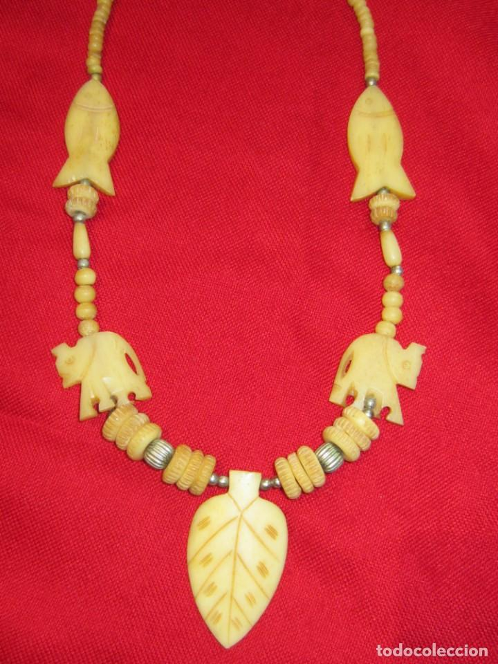 Joyeria: Collar de hueso tallado. - Foto 3 - 151524910