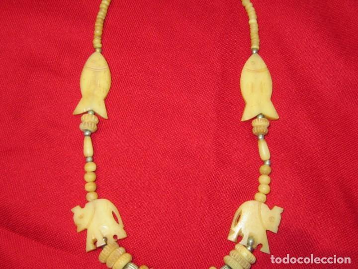 Joyeria: Collar de hueso tallado. - Foto 4 - 151524910