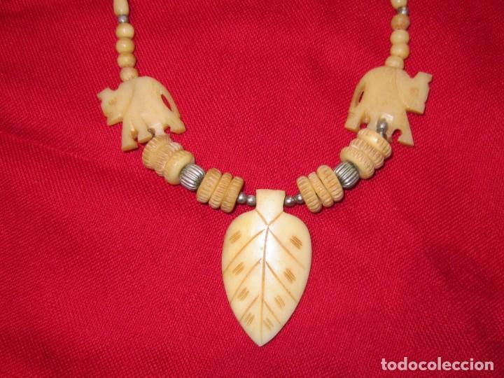 Joyeria: Collar de hueso tallado. - Foto 5 - 151524910
