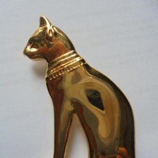 Joyeria: GATO EGYPTO BROCHE 22CT BAÑO ORO. BRITISH MUSEUM CONNECTION. Lote 151542910