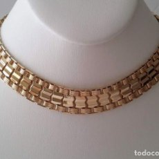 Joyeria: SARAH COVENTRY GOLD-PLATED - REVERSIBLE FLAT CHOKER NECKLACE. Lote 151559902