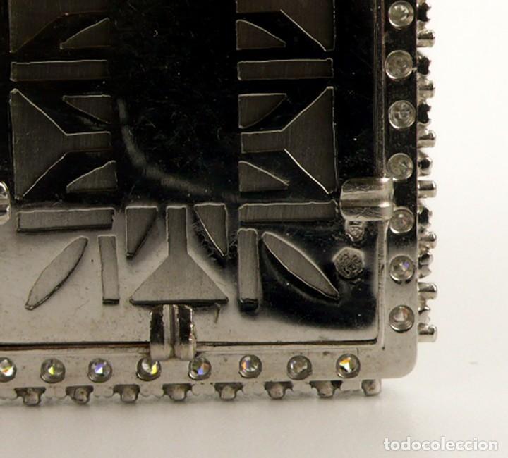 Joyeria: Espectacular colgante Art Decó oro blanco 18k-41 diamantes 2 cts - miniatura esmaltada-Mediados S.XX - Foto 12 - 152160574