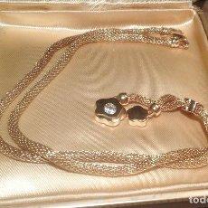 Joyeria - Collar / Colgante flor. Plata chapada en oro 18kt - 152430166