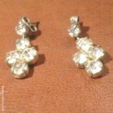 Joyeria - Pendientes años 50. Plata y circonitas talladas - 152484334