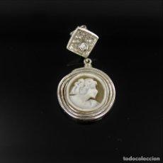 Jewelry - PENDIENTES LARGOS DE PLATA 925M/M, CIRCONITA Y CAMAFEO DE CONCHA - 118292835