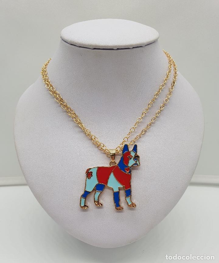Joyeria: Original colgante de perro con acabado en oro de 14k y esmaltes . - Foto 3 - 152585022
