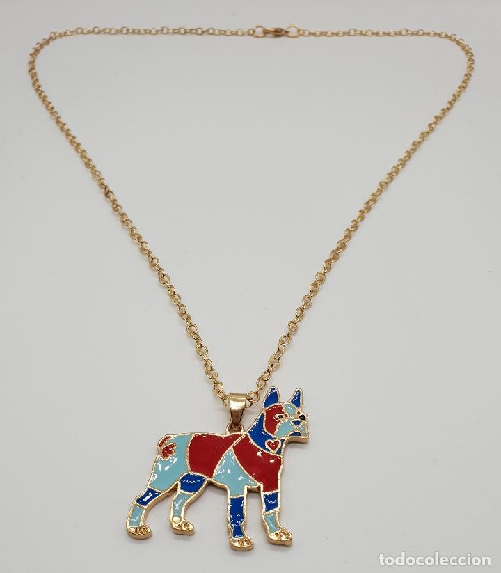 Joyeria: Original colgante de perro con acabado en oro de 14k y esmaltes . - Foto 5 - 152585022