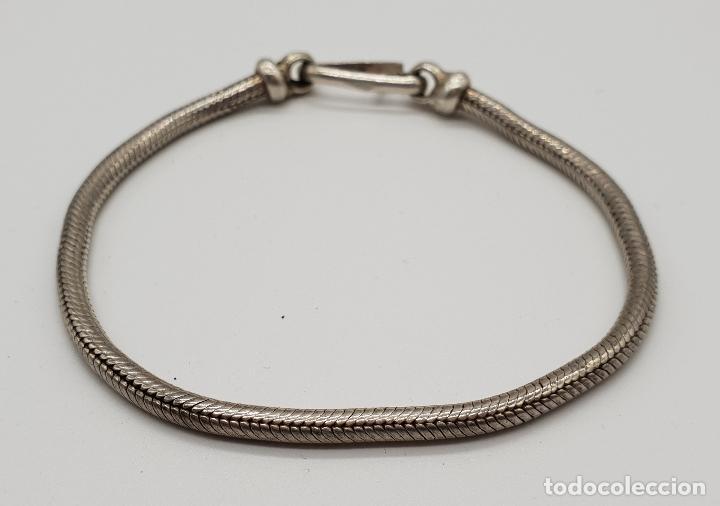 Joyeria: Pulsera vintage en plata de ley maciza, con forma de serpiente, contrastada . - Foto 2 - 152620394