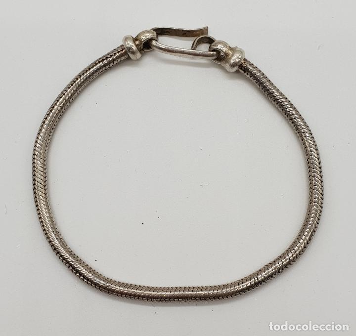 Joyeria: Pulsera vintage en plata de ley maciza, con forma de serpiente, contrastada . - Foto 4 - 152620394