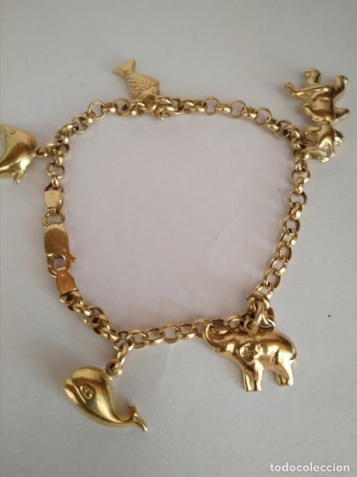 99536bcab794 bonita pulsera oro macizo de 18k con 5 colgante - Buy Antique ...