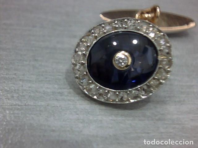 Joyeria: gemelos oro 18 kl y diamantes - Foto 2 - 152870906