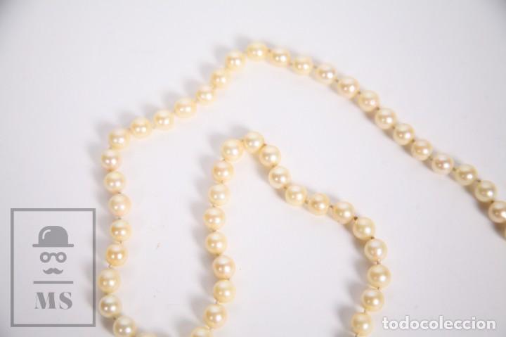 Joyeria: Precioso Collar de Perlas Cultivadas con Cierre de Oro y Cuentas de Coral Rojo - Longitud 64 cm - Foto 3 - 153193802