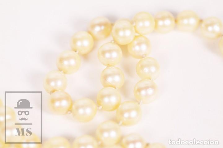 Joyeria: Precioso Collar de Perlas Cultivadas con Cierre de Oro y Cuentas de Coral Rojo - Longitud 64 cm - Foto 4 - 153193802