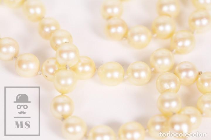Joyeria: Precioso Collar de Perlas Cultivadas con Cierre de Oro y Cuentas de Coral Rojo - Longitud 64 cm - Foto 5 - 153193802