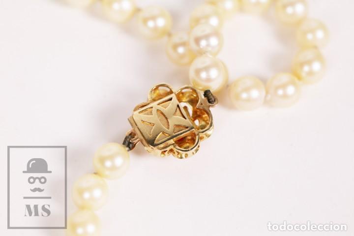 Joyeria: Precioso Collar de Perlas Cultivadas con Cierre de Oro y Cuentas de Coral Rojo - Longitud 64 cm - Foto 10 - 153193802
