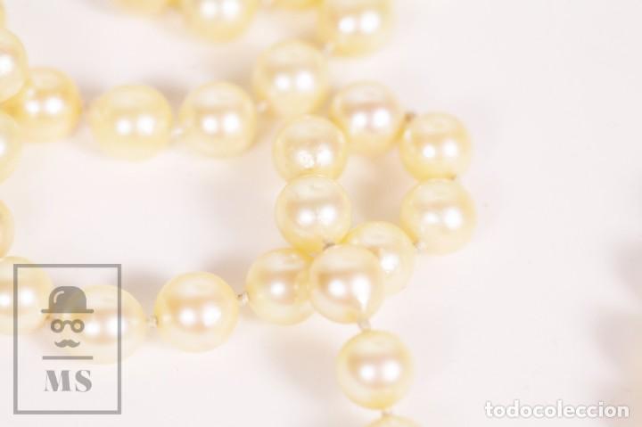 Joyeria: Precioso Collar de Perlas Cultivadas con Cierre de Oro y Cuentas de Coral Rojo - Longitud 64 cm - Foto 11 - 153193802